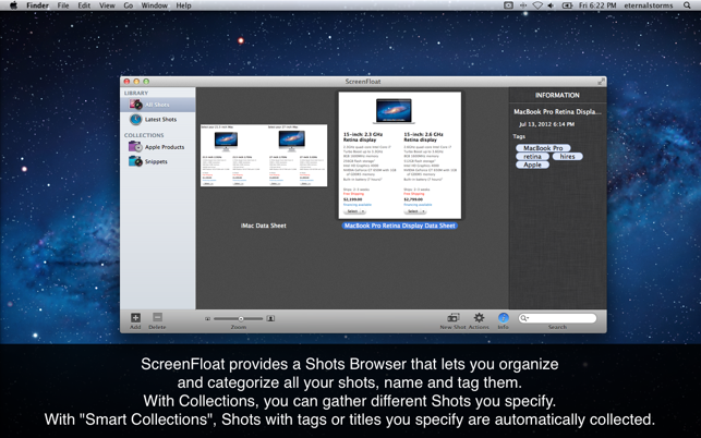 ‎ScreenFloat-Screenshots nutzen Screenshot