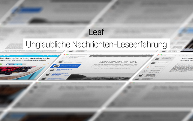 ‎Leaf - RSS News Reader Screenshot