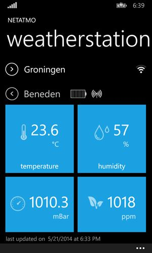 Aeolus Weatherstation Screenshot