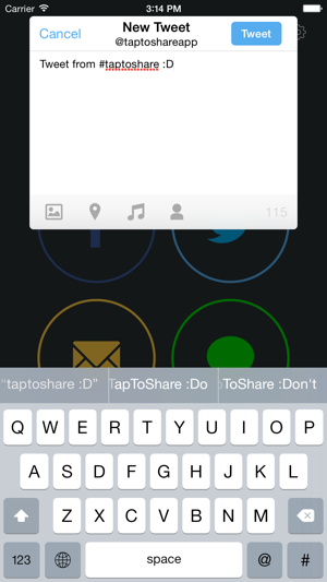 ‎TapToShare Screenshot