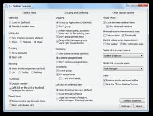 7+ Taskbar Tweaker nun auch mit Unterstützung für Windows 8