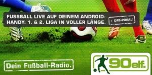 90elf · Fußball-Radio fürs iPhone derzeit kostenlos im App Store erhältlich