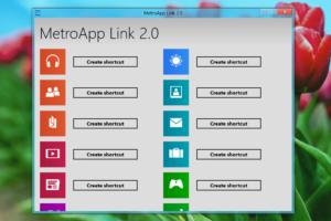 MetroApp Link · Metro-Apps als Verknüpfungen auf dem Windows 8 Desktop