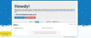 Receiveee · Temporäre E-Mail-Adressen