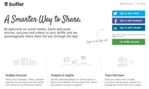 Buffer · Postings bei Twitter & Facebook zeitversetzt freigeben, inklusive iOS-App und Browser-Extension