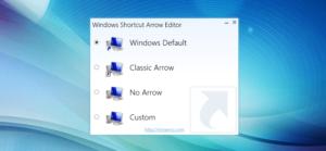 Windows Shortcut Arrow Editor · Pfeile von Verknüpfungen anpassen und entfernen