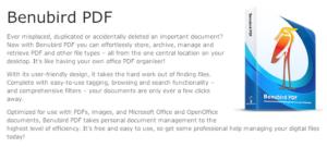 Mein papierloses Büro. Dokumente mit Benubird PDF verwalten [Windows]