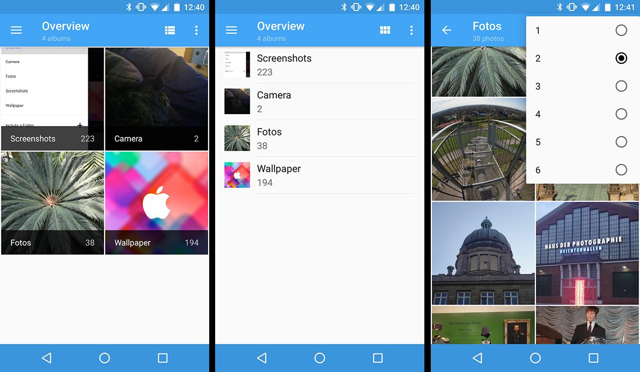 Aperture Gallery: Simple Galerie-App für Android als QuickPic