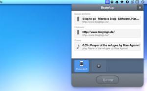 BeamApp: Webseiten, Zwischenablage und Songs von Mac auf's iPhone pushen und umgekehrt