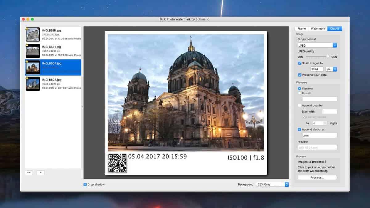 Bulk Photo Watermark: Mac-App setzt EXIF-Informationen und mehr als ...