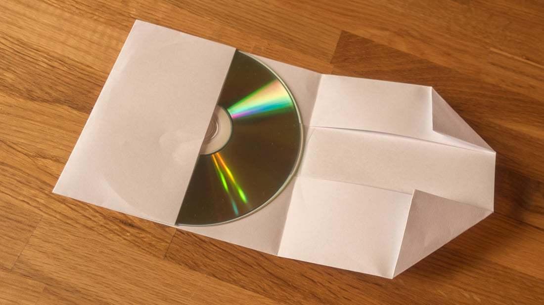 Top Lifehack: CD-Hüllen aus Din-A4 Papierblättern falten SN96