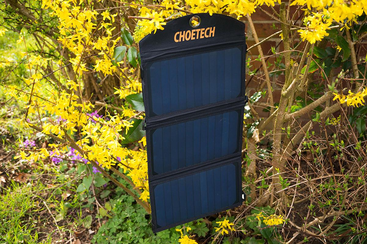 licht oder schatten faltbares solar ladeger t von choetech mit 19w und 2 usb ports ausprobiert. Black Bedroom Furniture Sets. Home Design Ideas