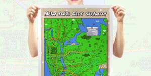 Things for Nerds · Poster von U-Bahn-Netzen im Stile von Super Mario und Zelda