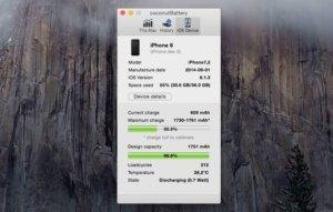 coconutBattery 3.2 erhält Informationen über den Akku eures iPhone und iPad