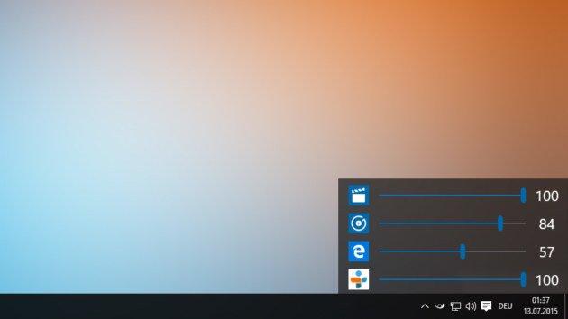 Lautstärkeregelung Windows 10