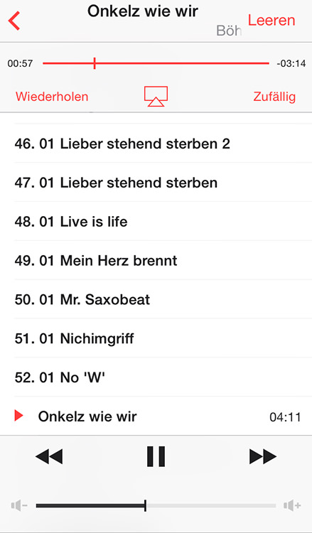Wolke Cloud-Player für iOS streamt Musik aus Dropbox, Google Drive