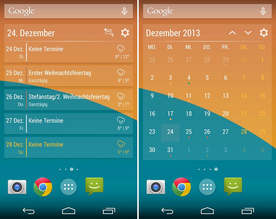 Kalender Widgets