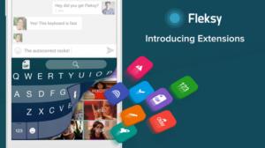 Fleksy Keyboard 5.0 für iOS und Android bekommt Unterstützung für Extensions