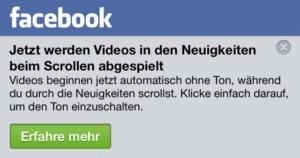 iOS, Android und Desktop: Facebook Auto-Play für Videos deaktivieren