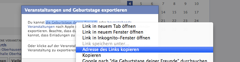 Facebook geburtstag outlook