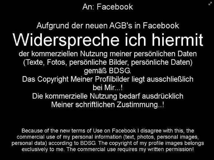 facebookabgwiderspruch
