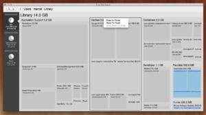 Free Disk Space für den Mac: Festplatten und Ordner scanner und Speicherplatzfresser aufspüren