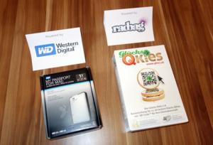 Geburtstagsgewinnspiel Tag 3 · WesternDigital MyPassport for Mac (1TB) und Geburtstagscookies