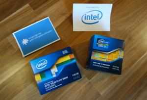 Geburtstagsgewinnspiel Tag 5 · Intel Core i7-3770K mit 3,5 GHz und Intel SSD 510 Series mit 120 GB