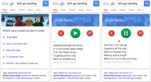Google Easteregg: Weihnachtliche Karaoke mit der mobilen Websuche