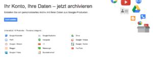 Google Takeout bietet nun Export von Mails und Kalender