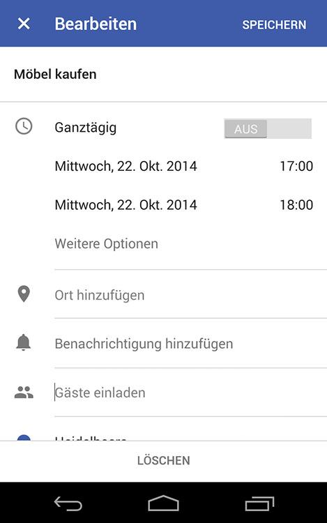 Google Kalender 5 0 Für Android Apk Ist Da Ein Kurzer Blick Hinein