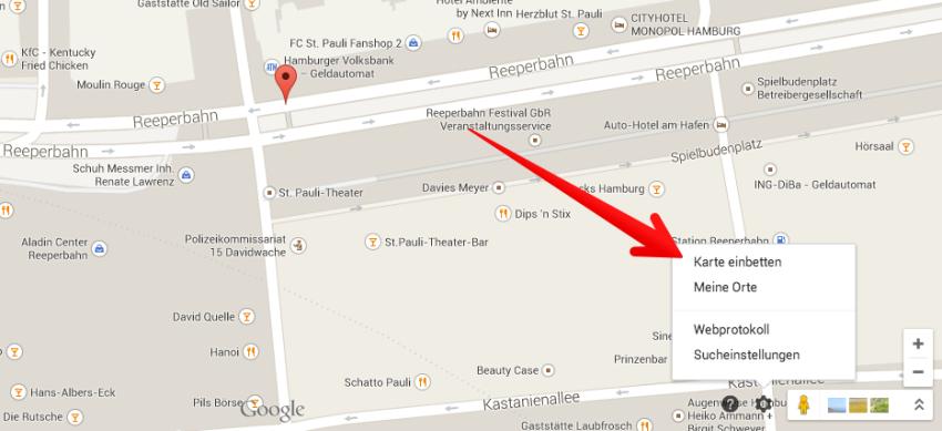googlemaps-karteeinbetten