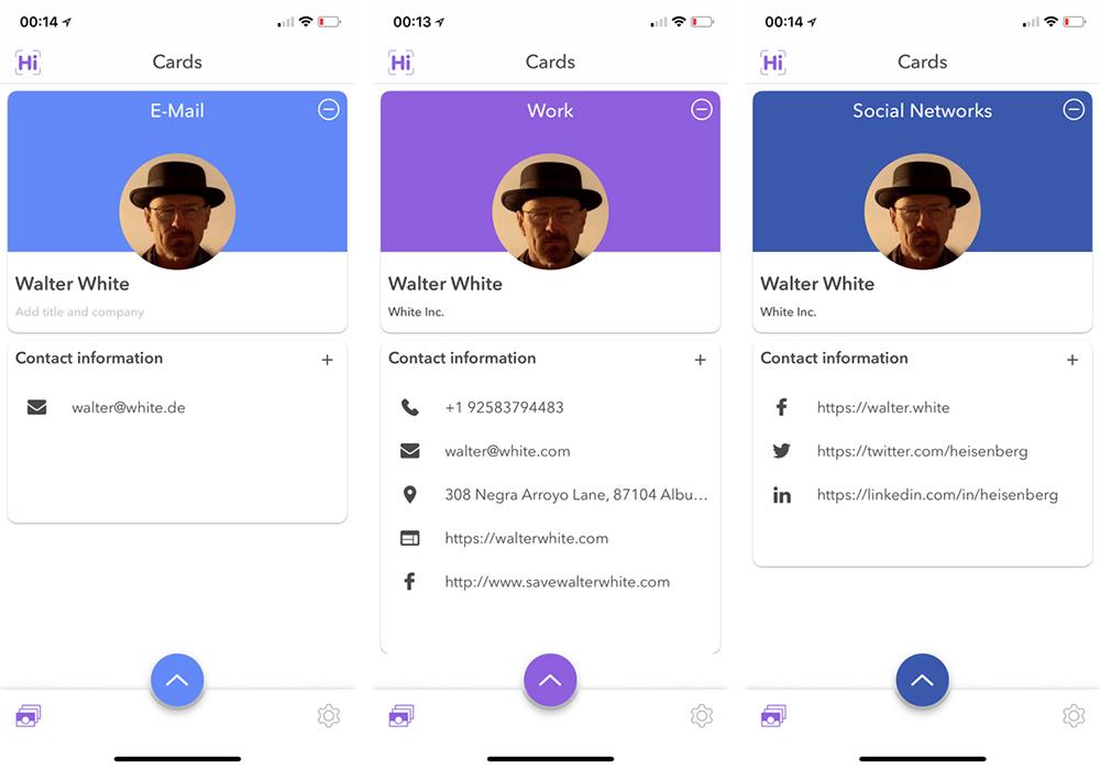 Hihello App Für Ios Und Android Möchte Die Visitenkarte
