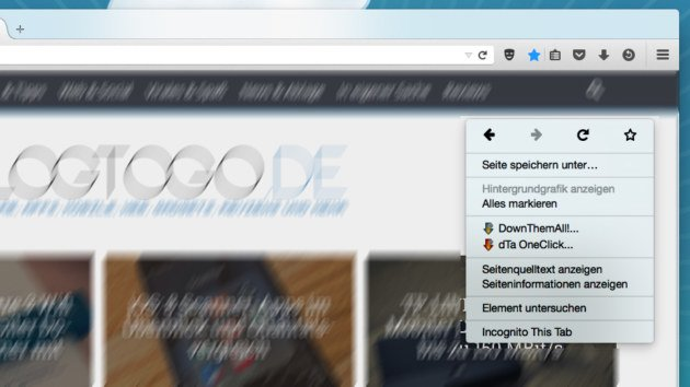 """Firefox: Mit """"Incognito This Tab Tabs schnell als"""