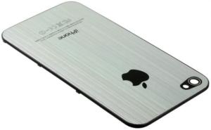 Silbernes Alu-Backcover für das iPhone 4S