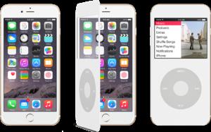 Konzept: iPod Cover macht aus einem iPhone 6 einen iPod mit Clickwheel