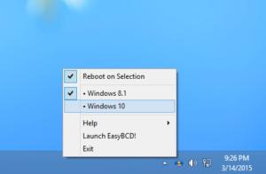 iReboot für Windows: Mittels Trayicon schneller System-Wechsel bei Dual-Boot-Systemen