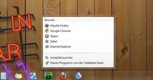 Jumplist-Launcher für Windows 7