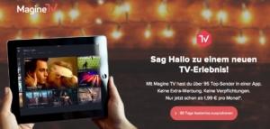 """Magine TV: Gratismonat + Drei Monate """"Master Paket"""" für rund 6 Euro"""
