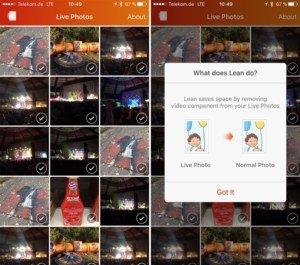 Lean für iOS: Live Photos in einem Rutsch in normale Fotos umwandeln