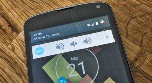 Android Lollipop: Lautstärke über die Benachrichtigungsleiste ändern