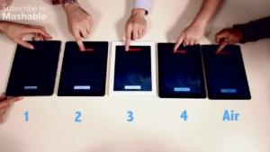 Geschwindigkeitstest: Das iPad Air vs. iPad 4 vs. iPad 3 vs. iPad 2 vs. iPad