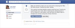 Facebook entfernt Privatsphäre-Option, nicht von anderen über die Suche gefunden werden zu können