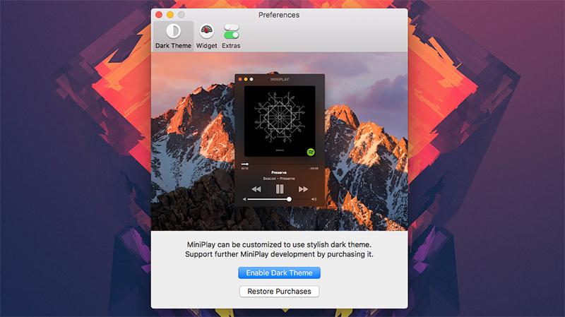 MiniPlay für den Mac: Kompakte Musikanzeige für iTunes und Spotify