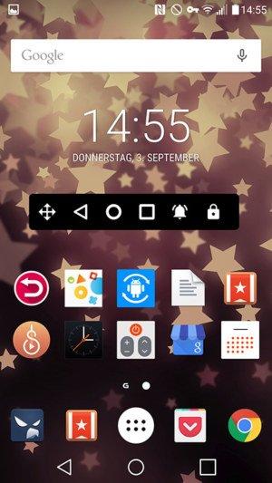 Navigation Bar für Android: Zusätzliche, dauerhafte Navigationsleiste