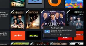 Amazon fire TV: Android-Benachrichtigungen auf dem TV anzeigen
