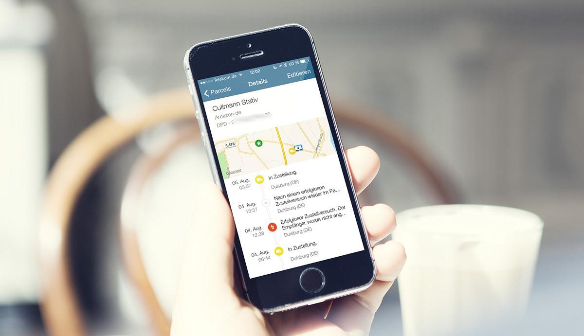 parceltrack paketverfolgung f r ios und android mit live tracking und mail inbox. Black Bedroom Furniture Sets. Home Design Ideas