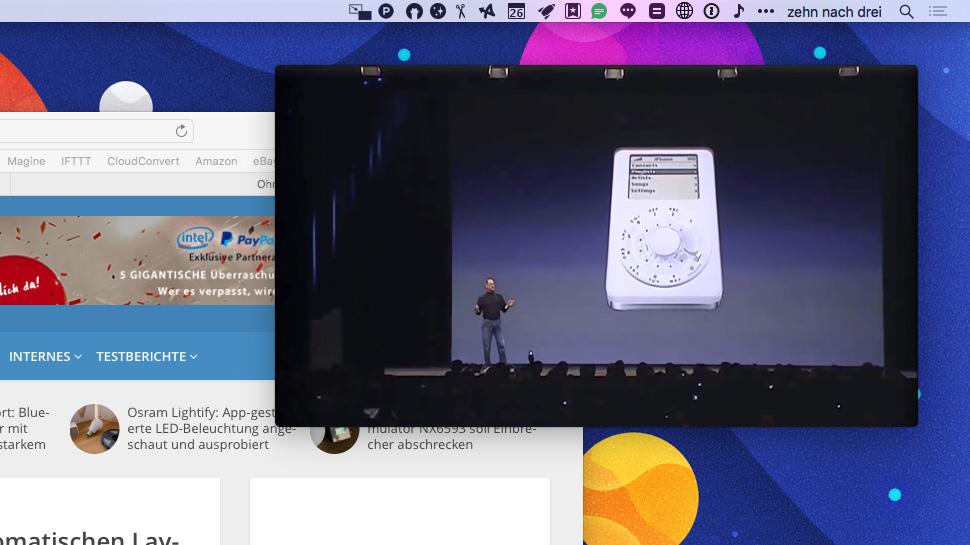 Picture in picture mac app spielt videos von youtube for Fenster immer im vordergrund