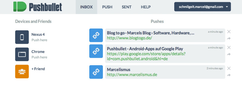pushbullet-webseite