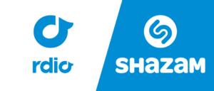 Streaming-Dienst Rdio und Shazam: Kooperation zwischen den Diensten nun weltweit ausgerollt